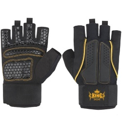 Weightlifting Gym Gloves With Long Elastic Wrist Wraps
