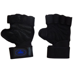 No slip Neoprene Weight Lifting Fitness Gym Gloves With Long Wrist Straps;-