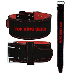 4-inch Leather PowerLifting Belt;-