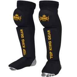 Top King Gear Shin Instep Guards with Knee Pads:-