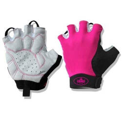 Pink Cycle Gloves