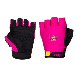 Womens Pink Cycling Gloves