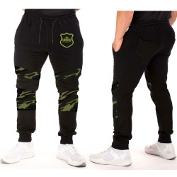 New Top King Gear Design Men Camouflage Panel Sweat Pant;-